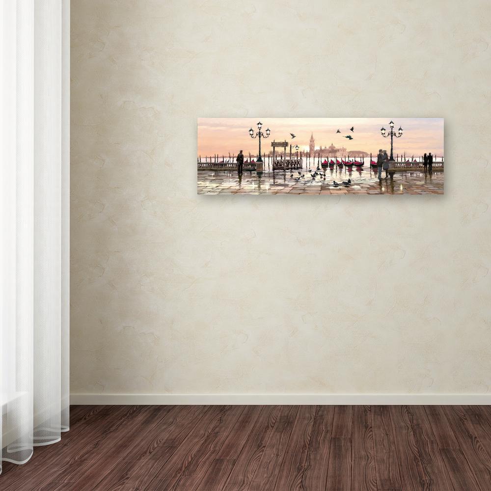 "16 in. x 47 in. ""Santa Maria Della Salute"" by The Macneil Studio Printed Canvas Wall Art"