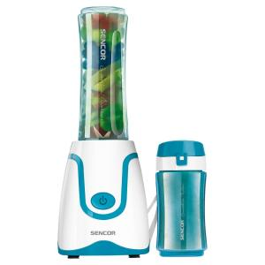 20 oz. Single Speed Turquoise Smoothie Blender with 2 Bottles