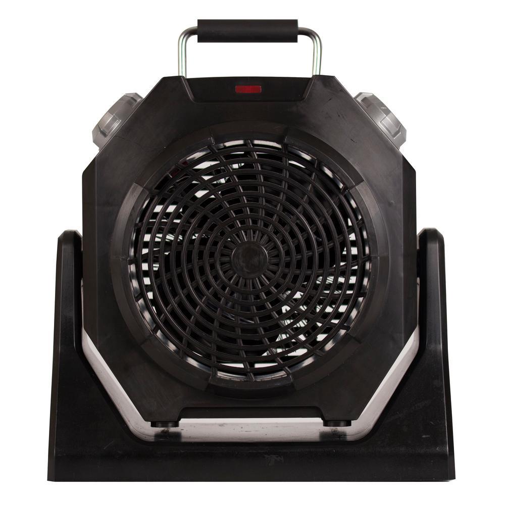 1500-Watt Portable Heater with Fan, Black