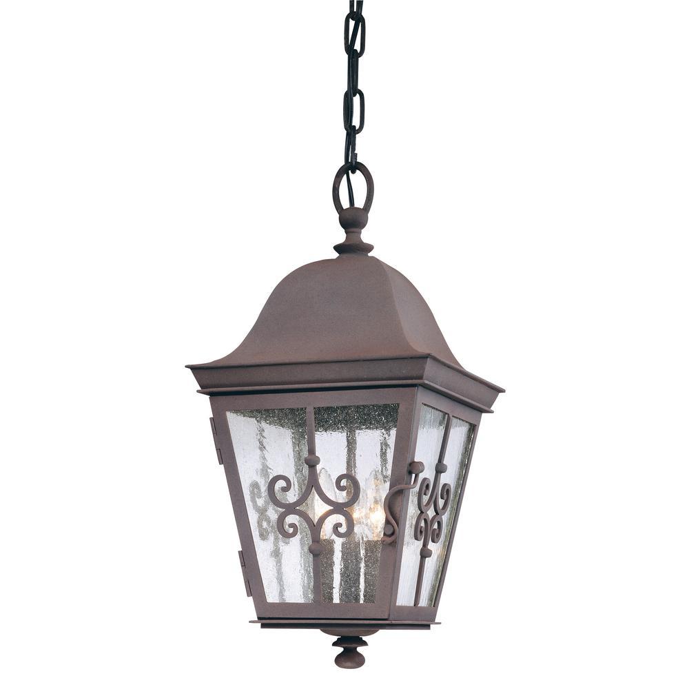 Troy Lighting Markham 3-Light Weathered Bronze Outdoor Pendant