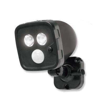 Black Outdoor Integrated LED Motion Activated Spot Light