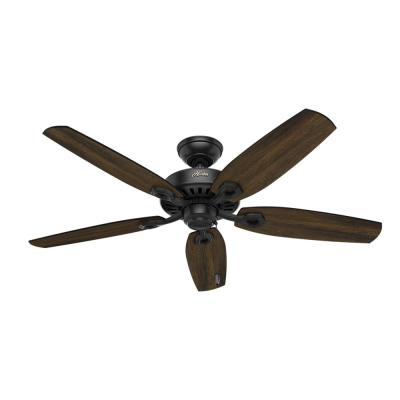 Builder Elite 52 in. Indoor Matte Black Ceiling Fan