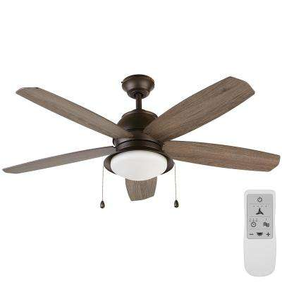 Ackerly 52 in. Integrated LED Bronze Ceiling Fan with Light Kit Works, Google Assistant and Alexa