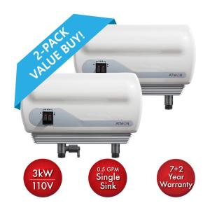 Deals on 2PK ATMOR Single Sink 110V Electric Tankless Water Heater