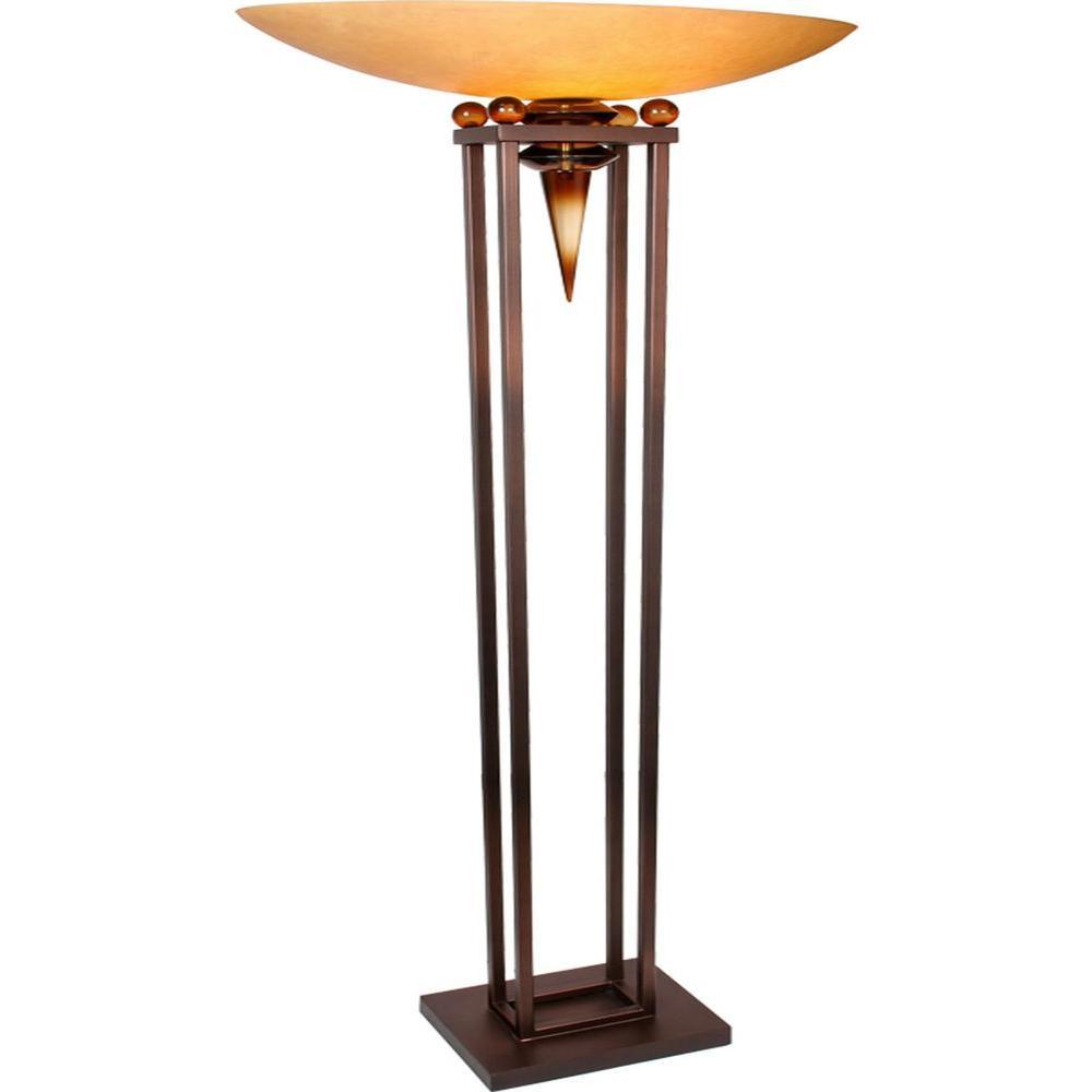 Filament Design Century 70 in. Copper and Black Torchiere Lamp