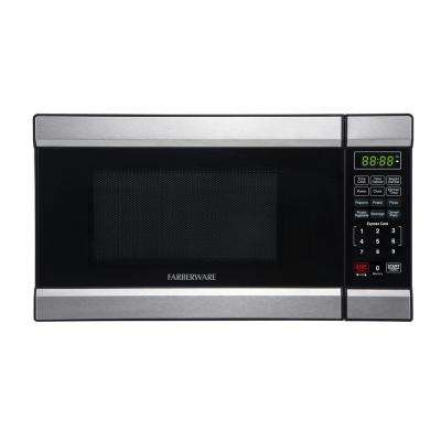 0.7 cu. ft. 700-Watt Countertop Microwave in Stainless Steel/Black