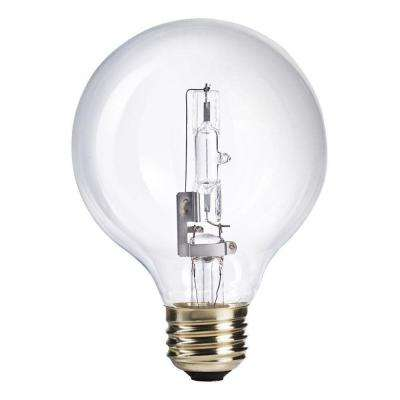 60W Equivalent Halogen G25 Clear Globe Light Bulb (12-Pack)