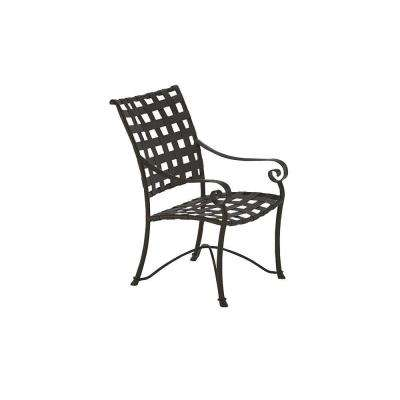 Vallero Crossweave Black Commercial High Back Game Patio Chair (2-Pack)