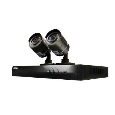4-Channel HD 1TB HDD Indoor/Outdoor Surveillance System and (2) 720P Camera PTZ Compatible Remote Viewing