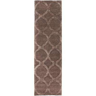 Urban Lainey Light Brown 2 ft. x 12 ft. Indoor Runner Rug