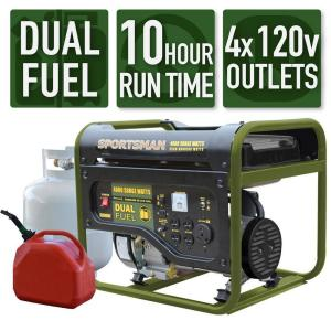 Sportsman 803266 3500-Watt Dual Fuel LPG or Gasoline Portable Generator