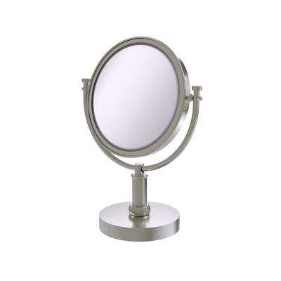 8 in. Vanity Top Make-Up Mirror 3X Magnification in Satin Nickel