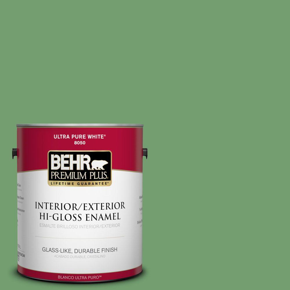 1-gal. #450D-6 Shire Green Hi-Gloss Enamel Interior/Exterior Paint
