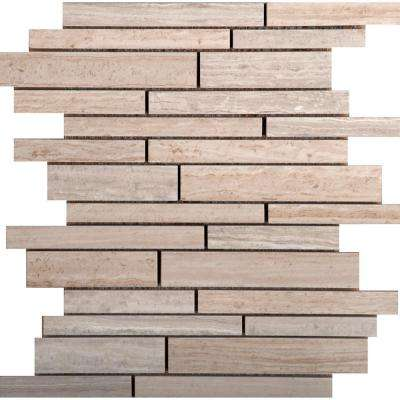 Ambiance Coast 9.84 in. x 11.81 in. x 9mm Porcelain Mesh-Mounted Mosaic Tile