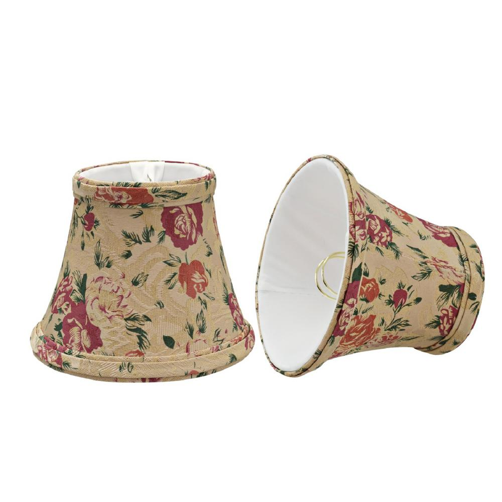 5 in. x 4 in. Floral Print Bell Lamp Shade (2-Pack)
