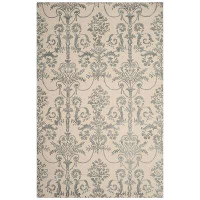 Bella Ivory/Gray 4 ft. x 6 ft. Area Rug