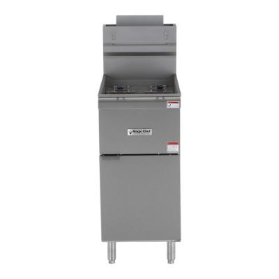 20.80 Qt. 40 lbs. Stainless Steel Natural Gas Commercial Fryer