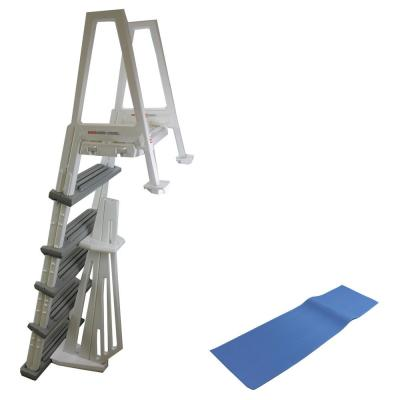 48 in. to 54 in. Swimming Pool Ladder Heavy-Duty Aboveground In-Pool with Mat