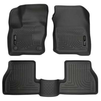 Front & 2nd Seat Floor Liners Fits 16-18 Focus RS