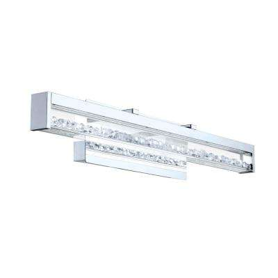 Cardito 2 100-Watt Chrome Integrated LED Bath Light