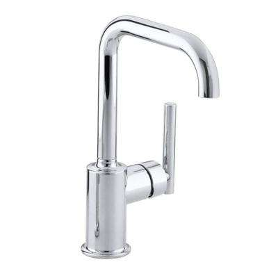 Purist Single-Handle Standard Kitchen Faucet with Secondary Swing Spout in Polished Chrome