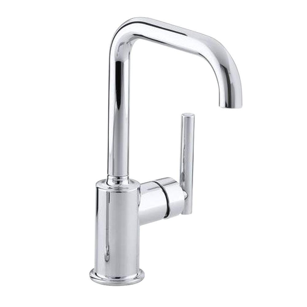 Purist Single-Handle Standard Kitchen Faucet with Secondary Swing Spout in