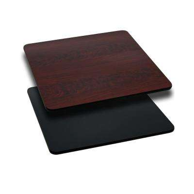 30 in. Square Table Top with Black or Mahogany Reversible Laminate Top