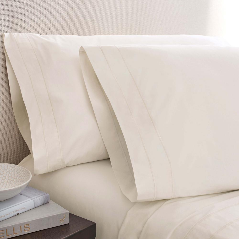 Portico The Denizen Collection Queen Pearl Fitted Sheet
