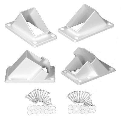 Riviera White Stair Railing Bracket Kit (4-Piece)