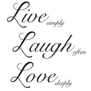 19 5 In X 17 25 Live Laugh Love Wall Decal