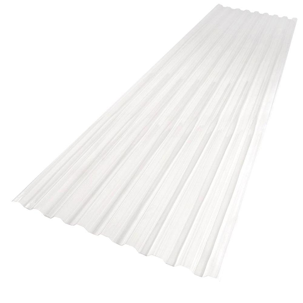 Suntuf 26 in. x 8 ft. Polycarbonate Roofing Panel in Clear