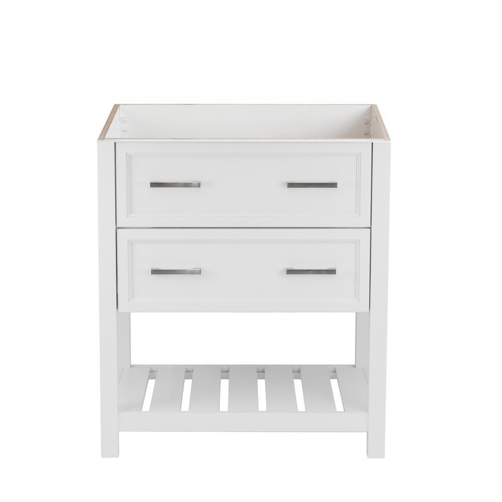 Milan 31 in. W x 22 in. D Bath Vanity Cabinet Only in White