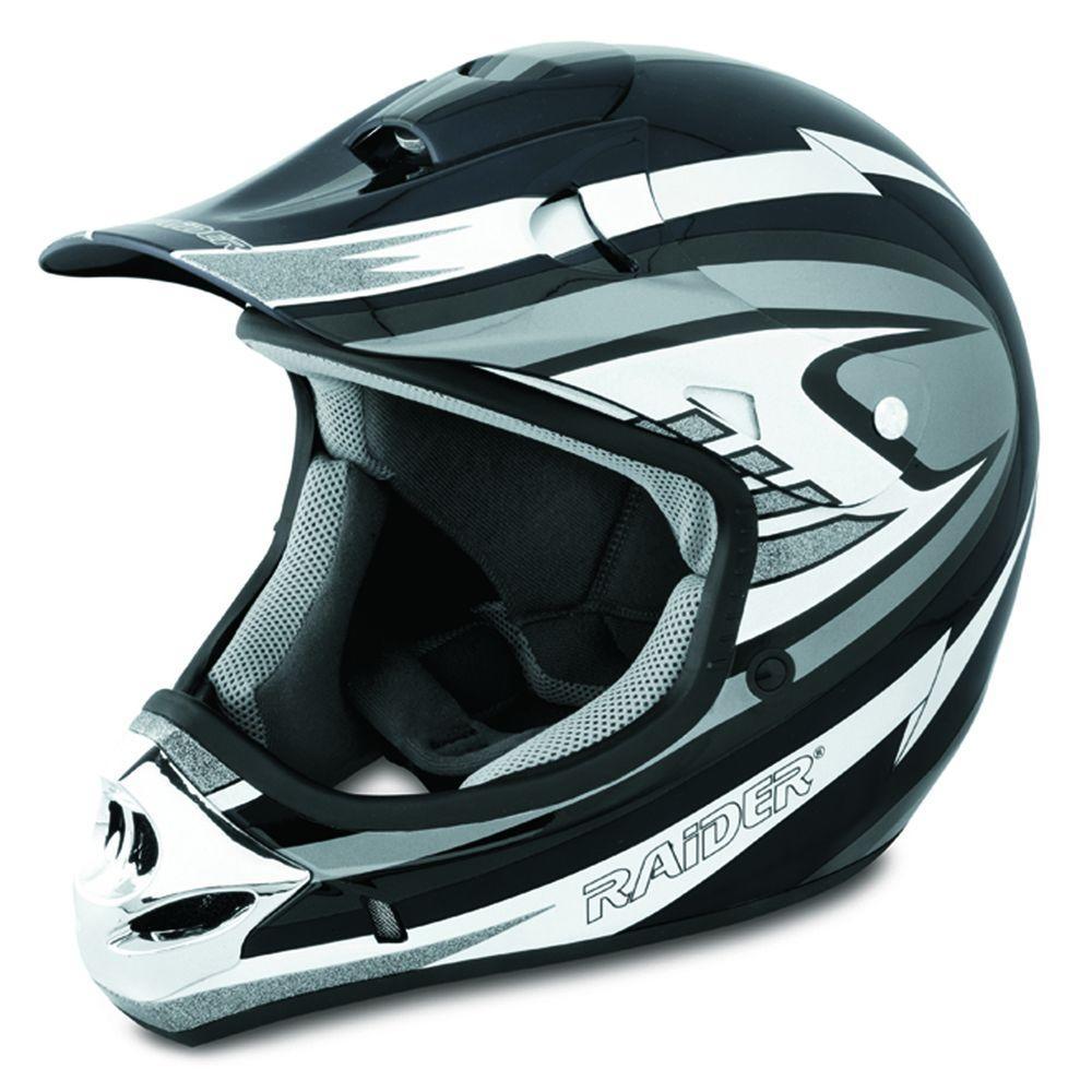 Raider X-Large Adult Silver MX 3 Helmet