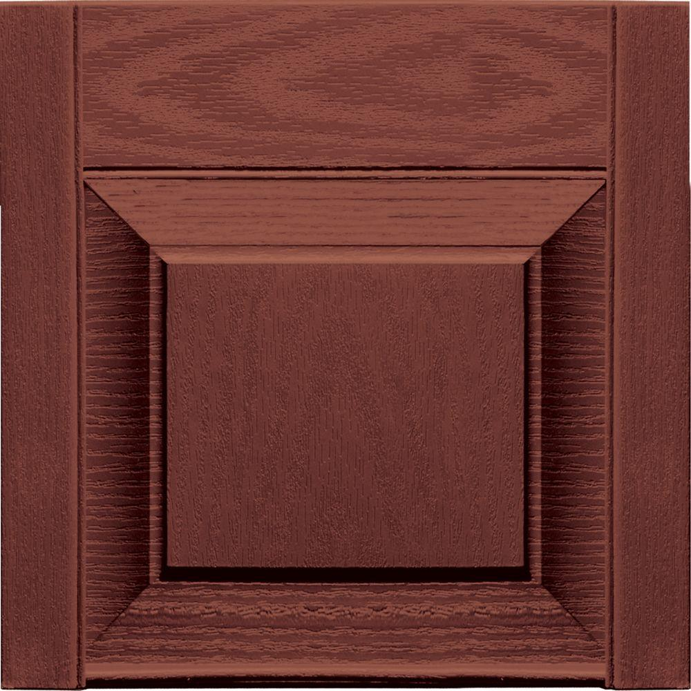 15 in. x 12 in. Burgundy Red Transom Tops Pair #027