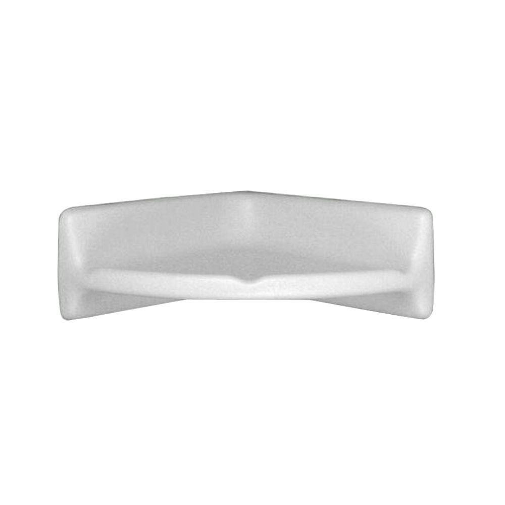 Bath Accessories White 8 in. x 8 in. Ceramic Wall Mounted