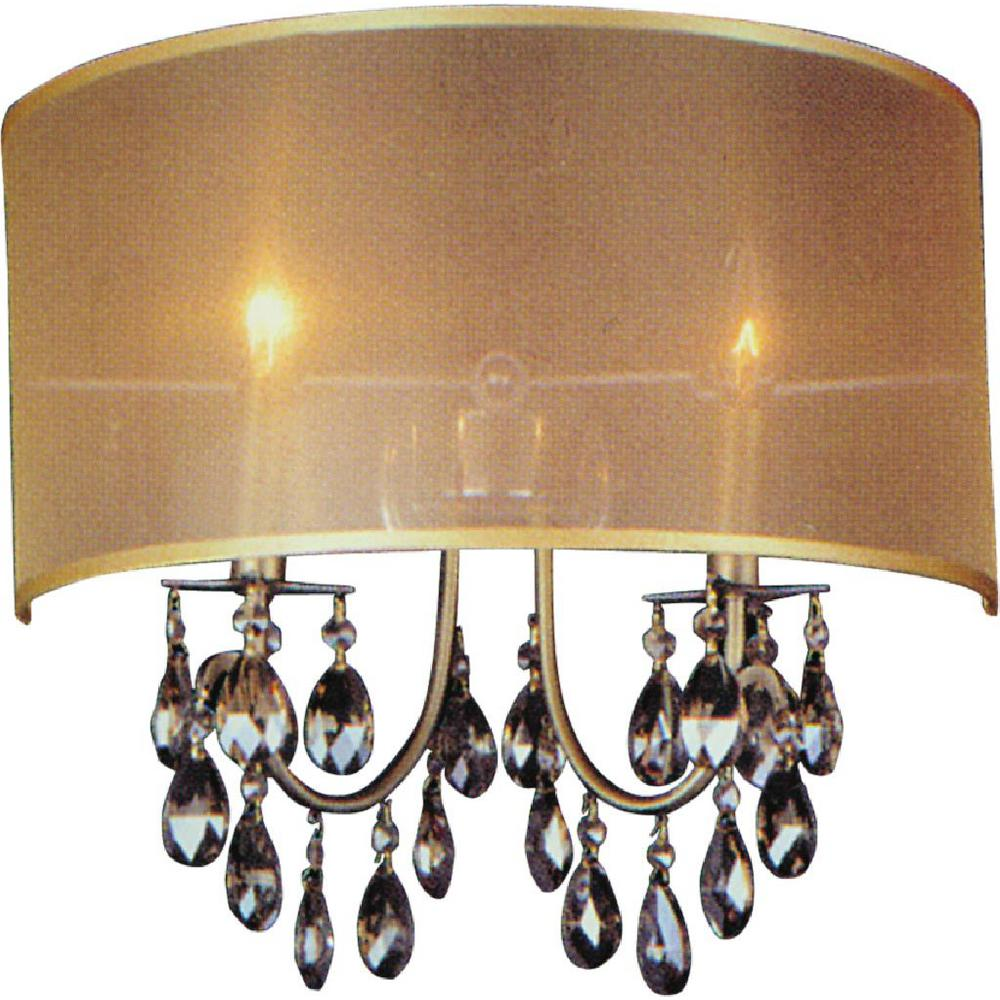 CWI Lighting Halo 2-Light French Gold Sconce