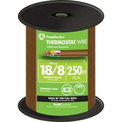 (By-the-Foot) 18/8 Brown Solid CU CL2 Thermostat Wire