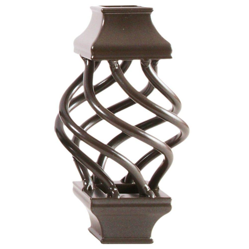 Pegatha 3/4 in. Charcoal Aluminum Basket Square Baluster Collar