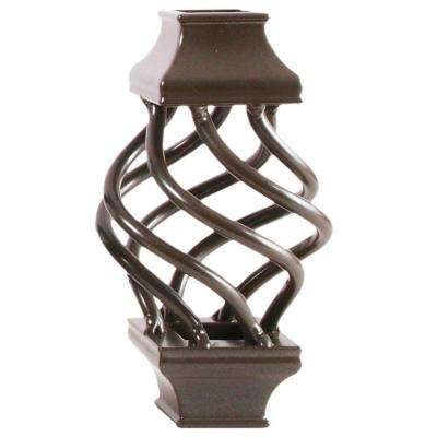 3/4 in. Charcoal Aluminum Basket Square Baluster Collar