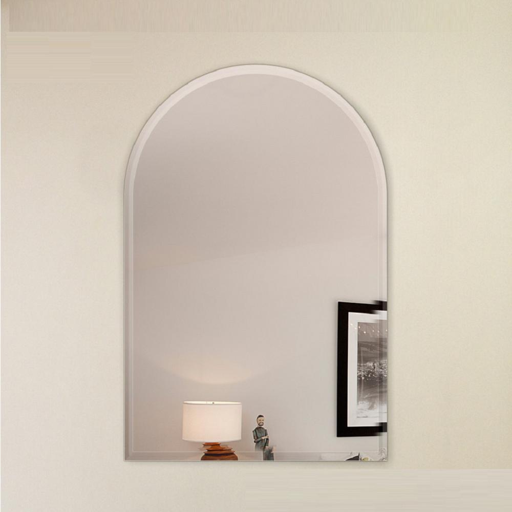 18 in. x 36 in. Arch Frameless Mirror 1 in. Beveled
