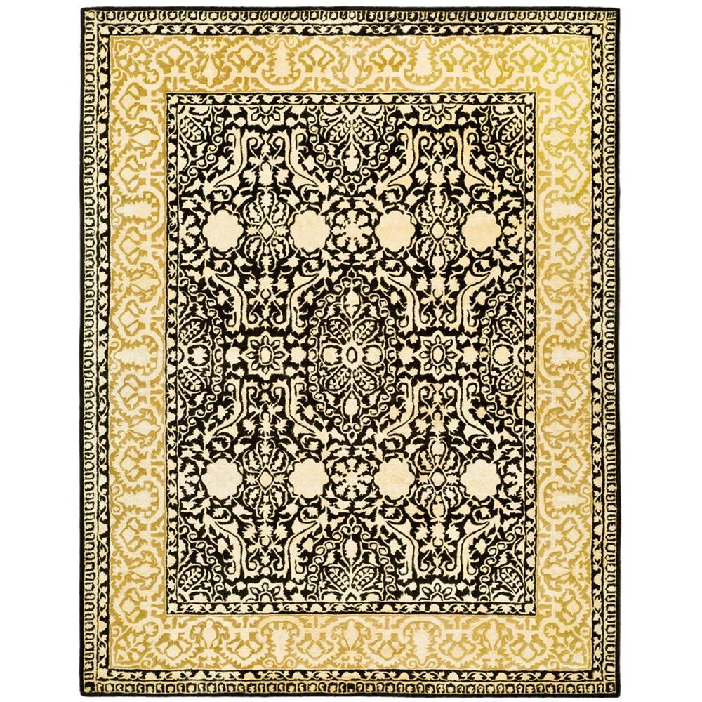 Silk Road Black and Ivory 7 ft. 6 in. x 9