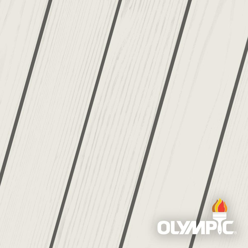 Exterior White Stain For Wood: Olympic Maximum 1 Gal. Outside White Semi-Transparent