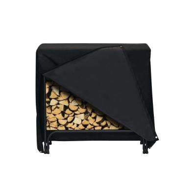 48 in. x 42 in. Log Rack Cover in Black