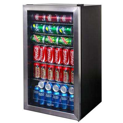 19 in. 126 (12 oz.) Can Stainless Steel Freestanding Beverage Cooler