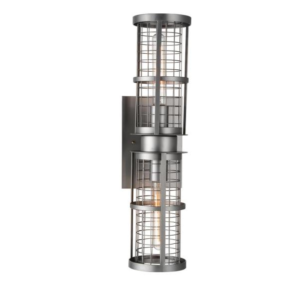 Manito 2-Light Pewter Sconce