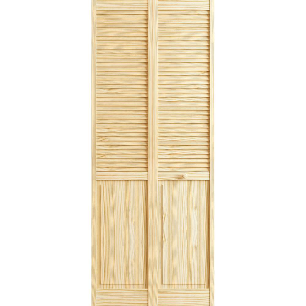 Bifold Doors 78 33 : Veranda in raw louver panel pine interior