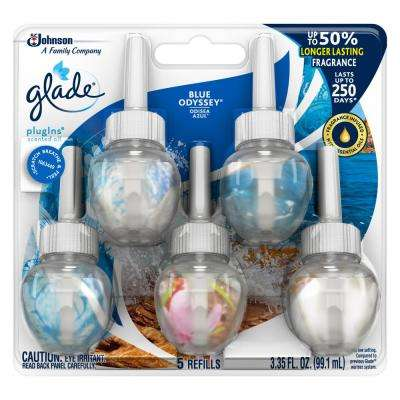3.35 fl. oz. Blue Odyssey Scented Oil Plug-In Air Freshener Refill (5-Pack)
