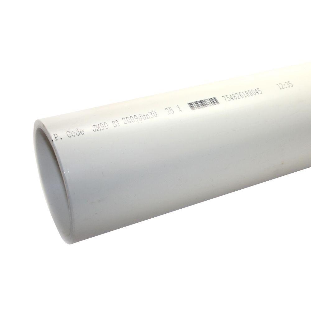4 in  x 10 ft  220-PSI PVC Sch  40 DWV Plain End Pipe