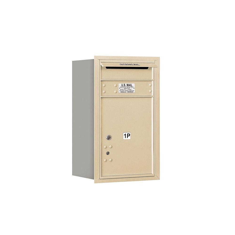 3700 Series 27 in. 7 Door High Unit Sandstone Private Rear