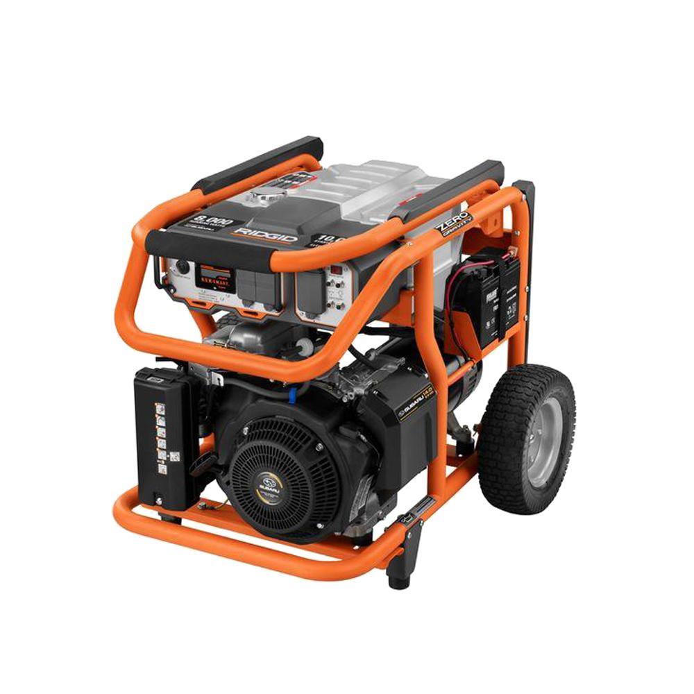 8000-Watt Gasoline Powered Portable Generator with Subaru Engine